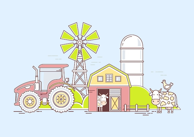 Farme Premium Wektorów