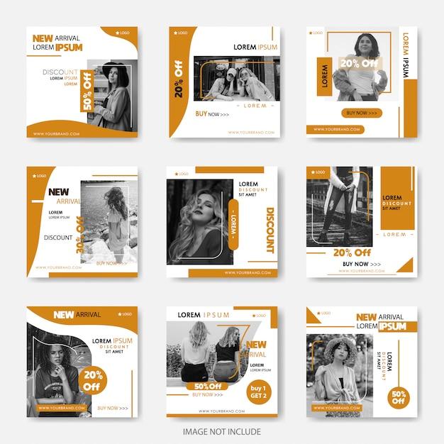 Fashion Social Media Banners Do Marketingu Cyfrowego Premium Wektorów