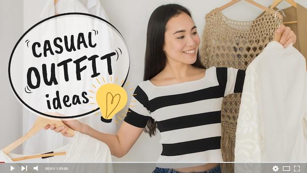 Fashion Videoblogger Miniatura Youtube Darmowych Wektorów