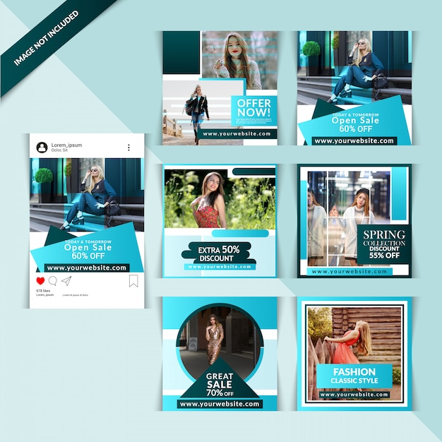 Fashion Web Banner Do Mediów Społecznościowych Premium Wektorów