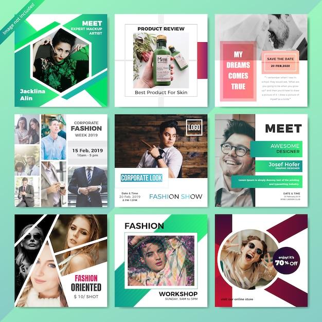 Fashion web social media post template Premium Wektorów