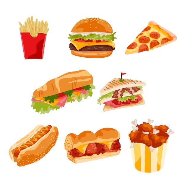 Fast food Darmowych Wektorów