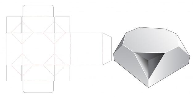Fazowany Ośmiokątny Szablon Wykrojnika Premium Wektorów