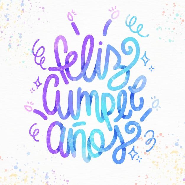 Feliz Cumpleaños Napis Ze świecami Darmowych Wektorów