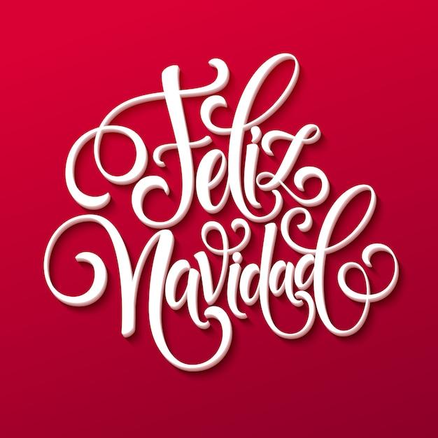 Feliz navidad strony napis tekst dekoracji dla szablonu karty z pozdrowieniami Premium Wektorów