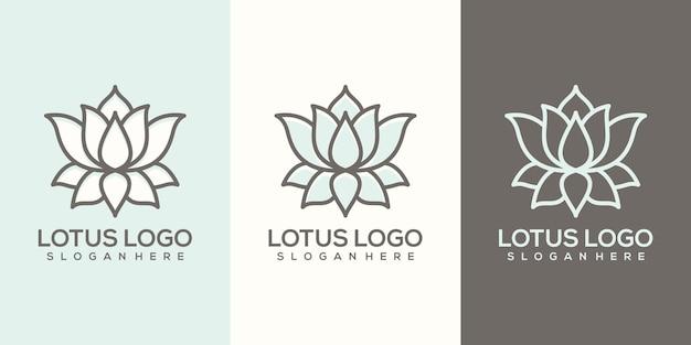 Feminim Streszczenie Szablon Logo Lotosu Premium Wektorów