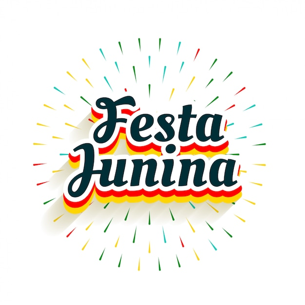 Festa Junina Celebracja Tło Z Wybuchu Fajerwerków Darmowych Wektorów