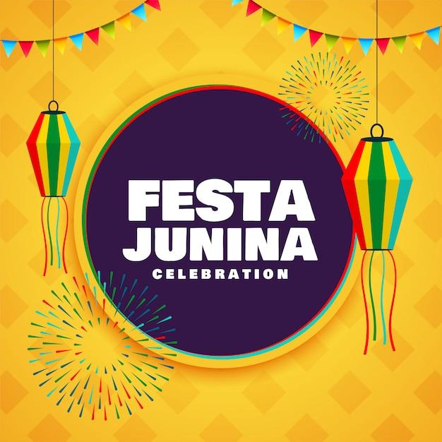 Festa Junina Festiwal Uroczystości Tło Dekoracyjne Projekt Darmowych Wektorów