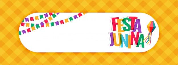 Festa Junina Karnawałowy Sztandar Z Przestrzenią Tekstową Darmowych Wektorów