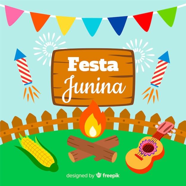 Festa Junina Darmowych Wektorów