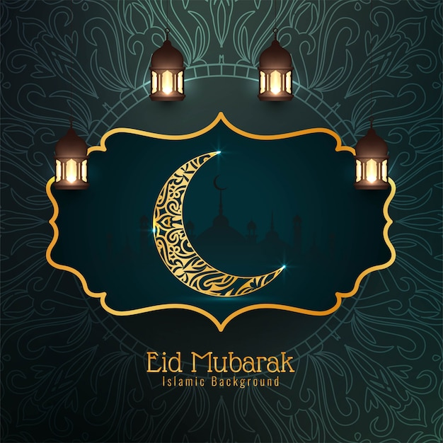 Festiwal eid mubarak dekoracyjne tło islamskie Darmowych Wektorów