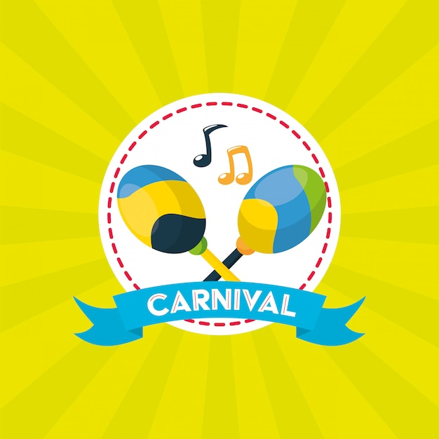 Festiwal karnawałowy w brazylii Darmowych Wektorów