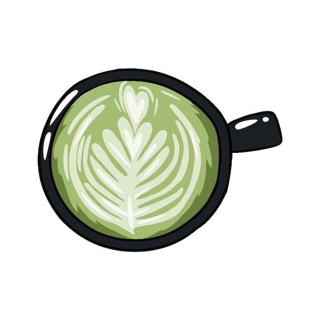 Filiżanka Zielonej Kawy Premium Wektorów