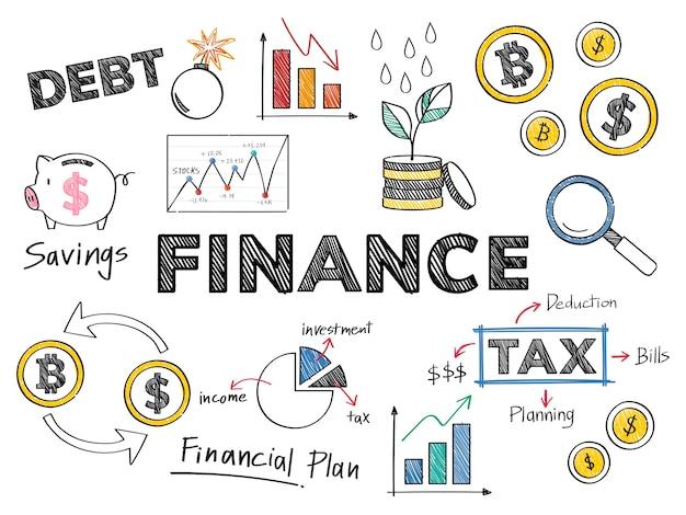 Finanse I Ilustracja Koncepcja Wydajności Finansowej Darmowych Wektorów