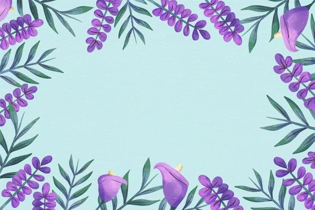 Fioletowe Kwiaty Kopia Przestrzeń Kwiatowy Tło Darmowych Wektorów