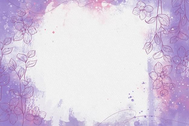 Fioletowy Pastel W Proszku Z Ręcznie Rysowanymi Elementami Darmowych Wektorów