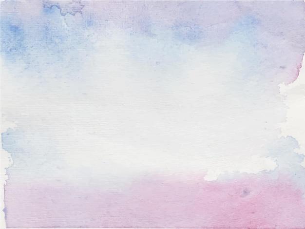 Fioletowy Streszczenie Ręcznie Malowane Tła Akwarela. Dekoracyjna Tekstura. Ręcznie Rysowane Obraz Na Papierze Premium Wektorów