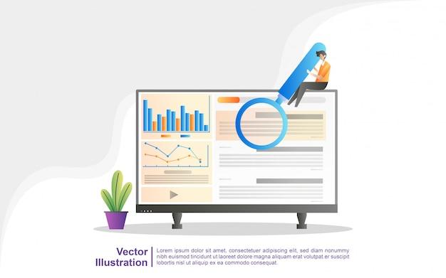 Firma Marketingowa Seo, Optymalizacja Wyników Seo, Ranking Seo. Premium Wektorów