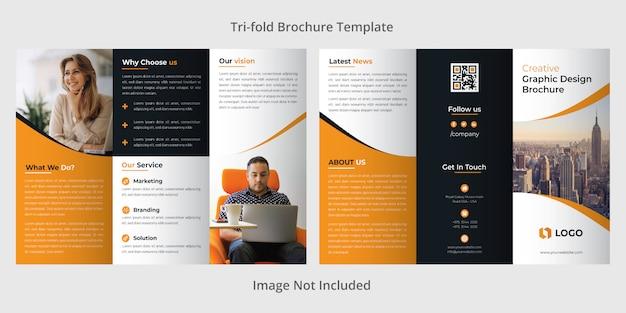 Firmowy szablon broszury trójstronnej Premium Wektorów