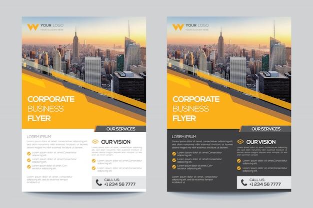 Firmowy szablon ulotki dla biznesu Premium Wektorów