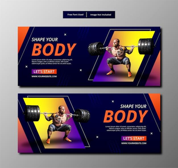 Fitness Szablon Transparent. Premium Wektorów