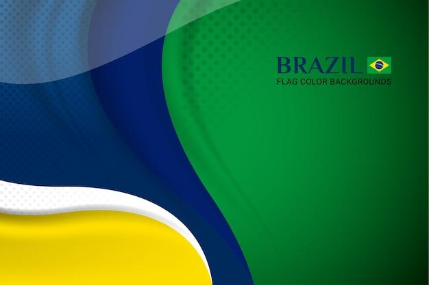 Flaga brazylii koncepcja tła dla niepodległości Premium Wektorów