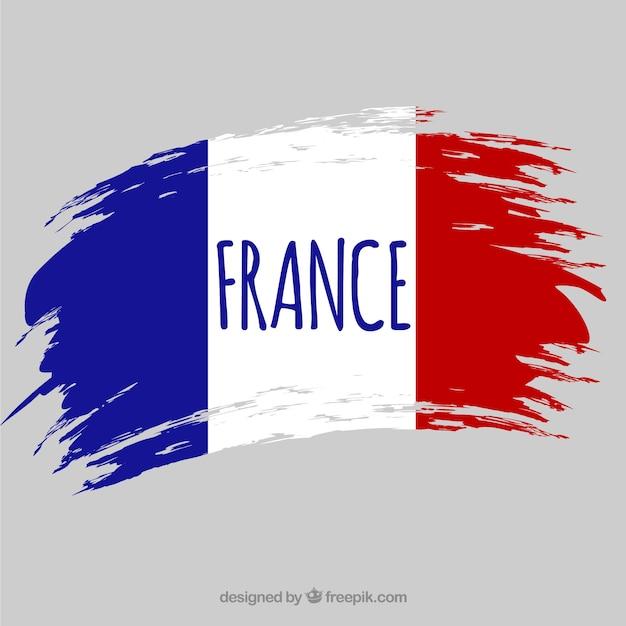 Flaga Francji W Tle Premium Wektorów