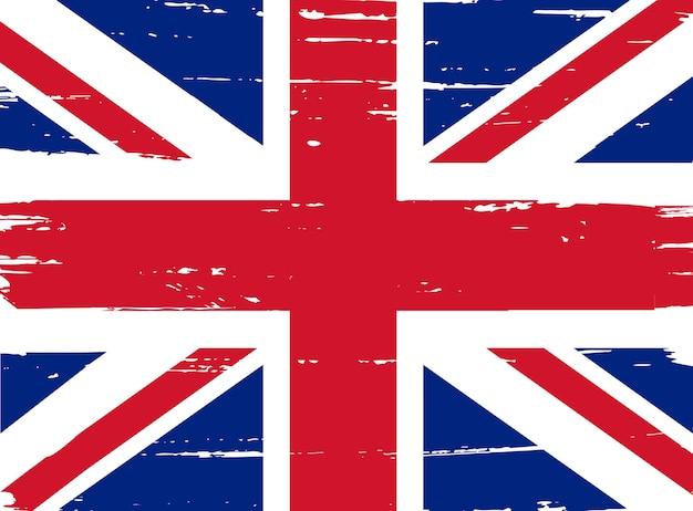 Flaga Grunge Wielkiej Brytanii Premium Wektorów
