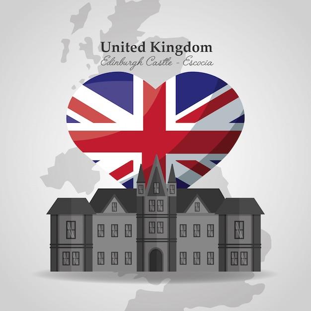 Flaga Kraju Zjednoczonego Królestwa Premium Wektorów