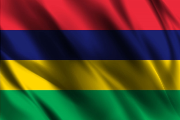 Flaga Mauritiusa Macha Szablon Tło Jedwab Premium Wektorów