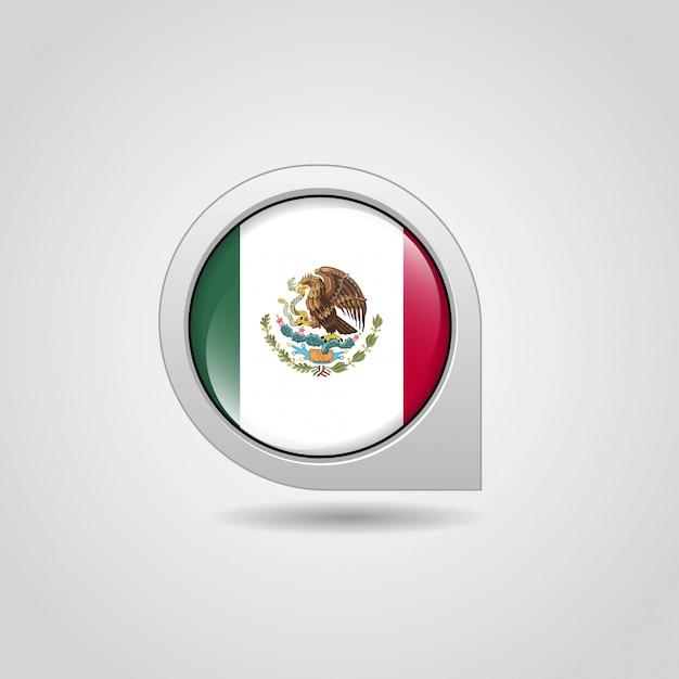 Flaga meksyku z kreatywnych wektor Darmowych Wektorów