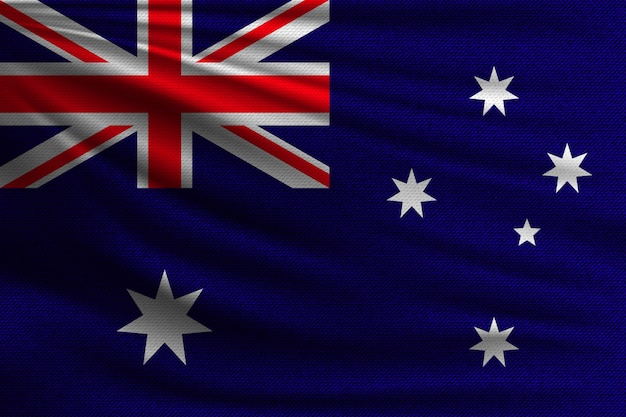 Flaga Narodowa Australii. Premium Wektorów