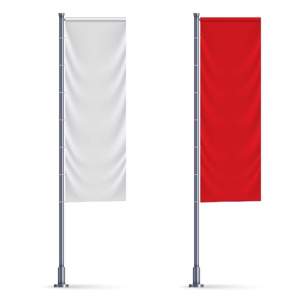 Flaga pionowa Premium Wektorów