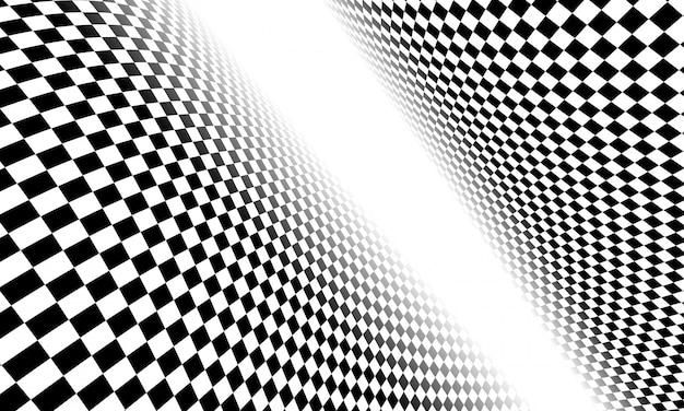 Flaga w szachownicę, wyścigi flaga na białym tle. Premium Wektorów