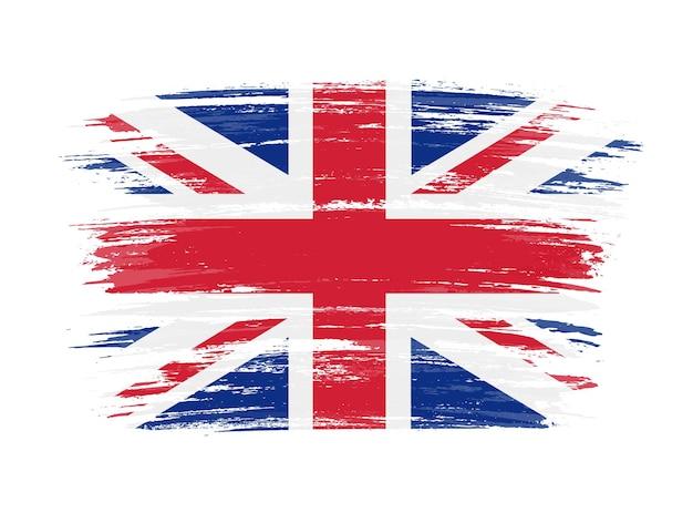 Flaga Wielkiej Brytanii Grunge Premium Wektorów