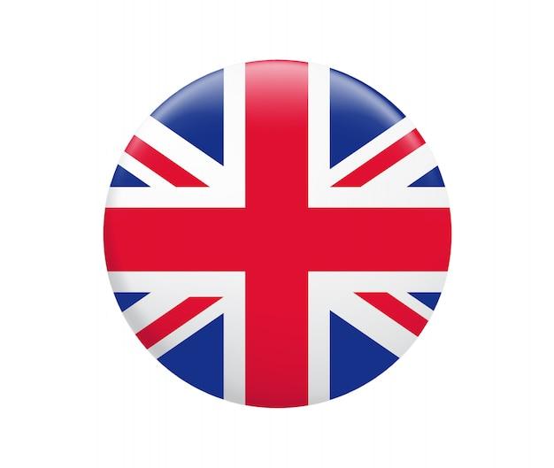 Flaga wielkiej brytanii. ikona flagi wielkiej brytanii. Premium Wektorów