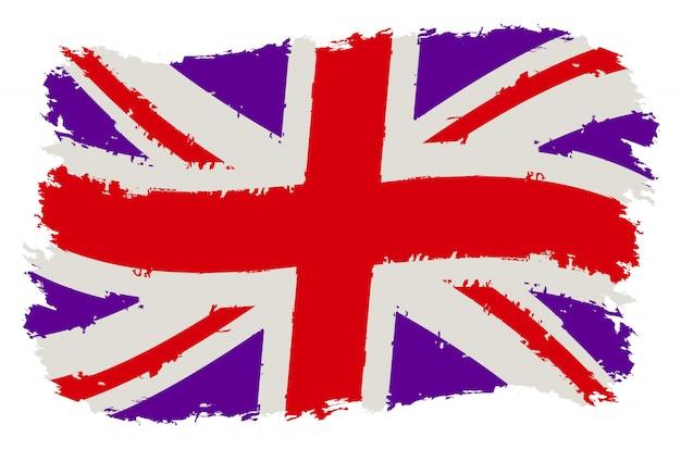 Flaga wielkiej brytanii nieczysty Premium Wektorów