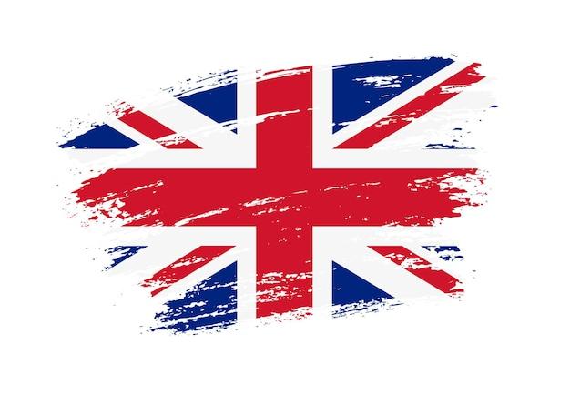 Flaga Wielkiej Brytanii Obrysu Pędzla Premium Wektorów