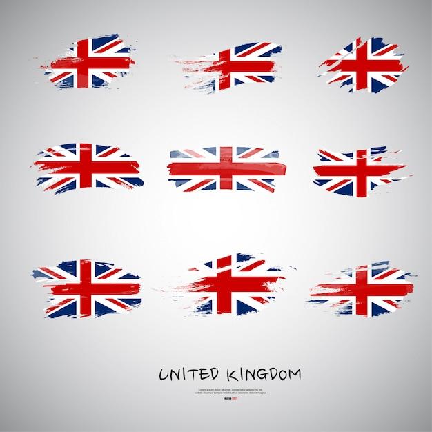 Flaga wielkiej brytanii Premium Wektorów
