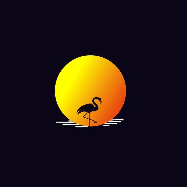 Flamingo Logo Premium Wektorów