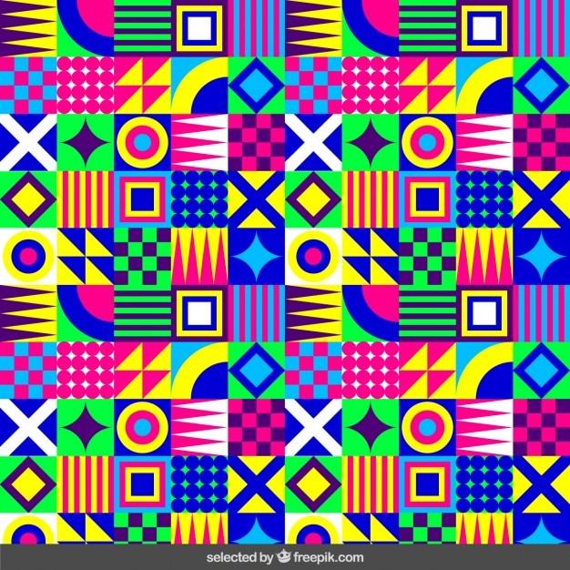 Fluor geometryczny wzór Darmowych Wektorów