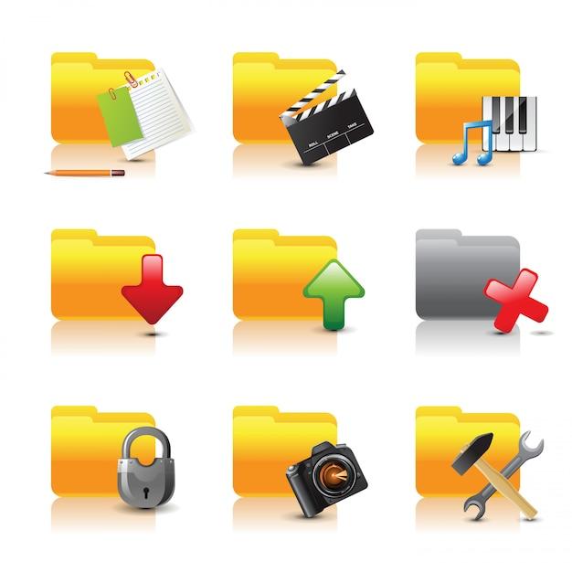 Foldery komputerowe Premium Wektorów