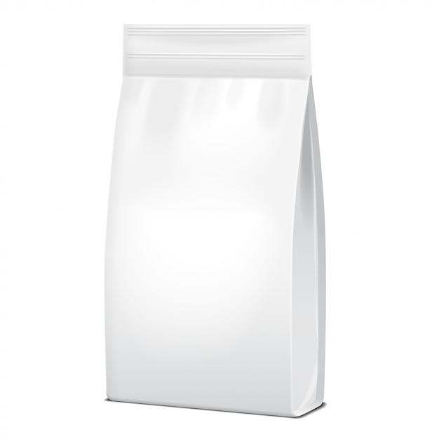 Folia Lub Papier Opakowanie Do żywności Lub Chemii Gospodarczej. Saszetka Snack Pouch Food For Animals. Premium Wektorów