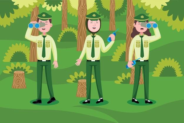 Forest Ranger Premium Wektorów