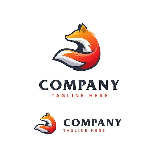 Fox logo szablon ilustracja ikona Premium Wektorów