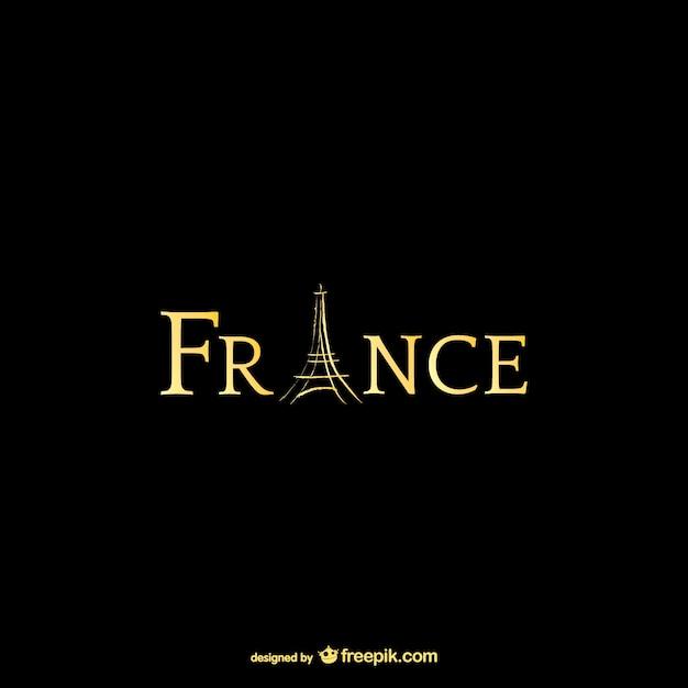 Francja i wieża eiffla Darmowych Wektorów