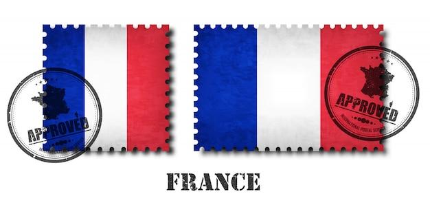Francja lub francuski wzór znaczek Premium Wektorów