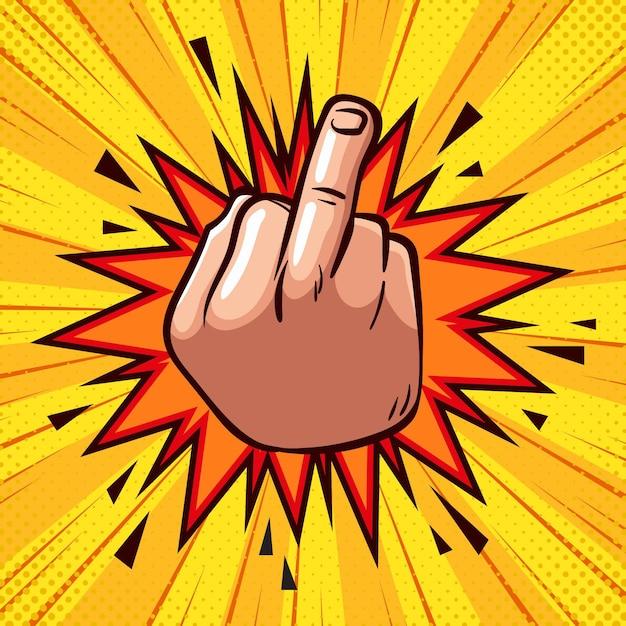 Fuck You Symbol W Komiksowym Stylu Darmowych Wektorów