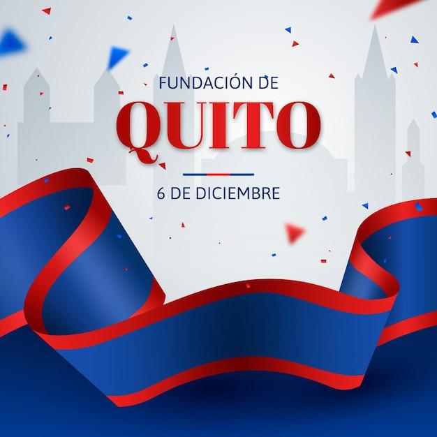 Fundación De Quito Tło Z Konfetti Darmowych Wektorów