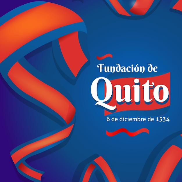 Fundacion De Quito Z Flagą Darmowych Wektorów